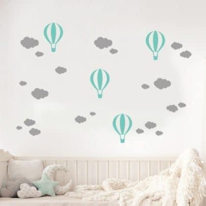 Balónikové a Mrákov samolepky na stenu