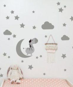 Nálepka na stenu Mesiac a hviezdy