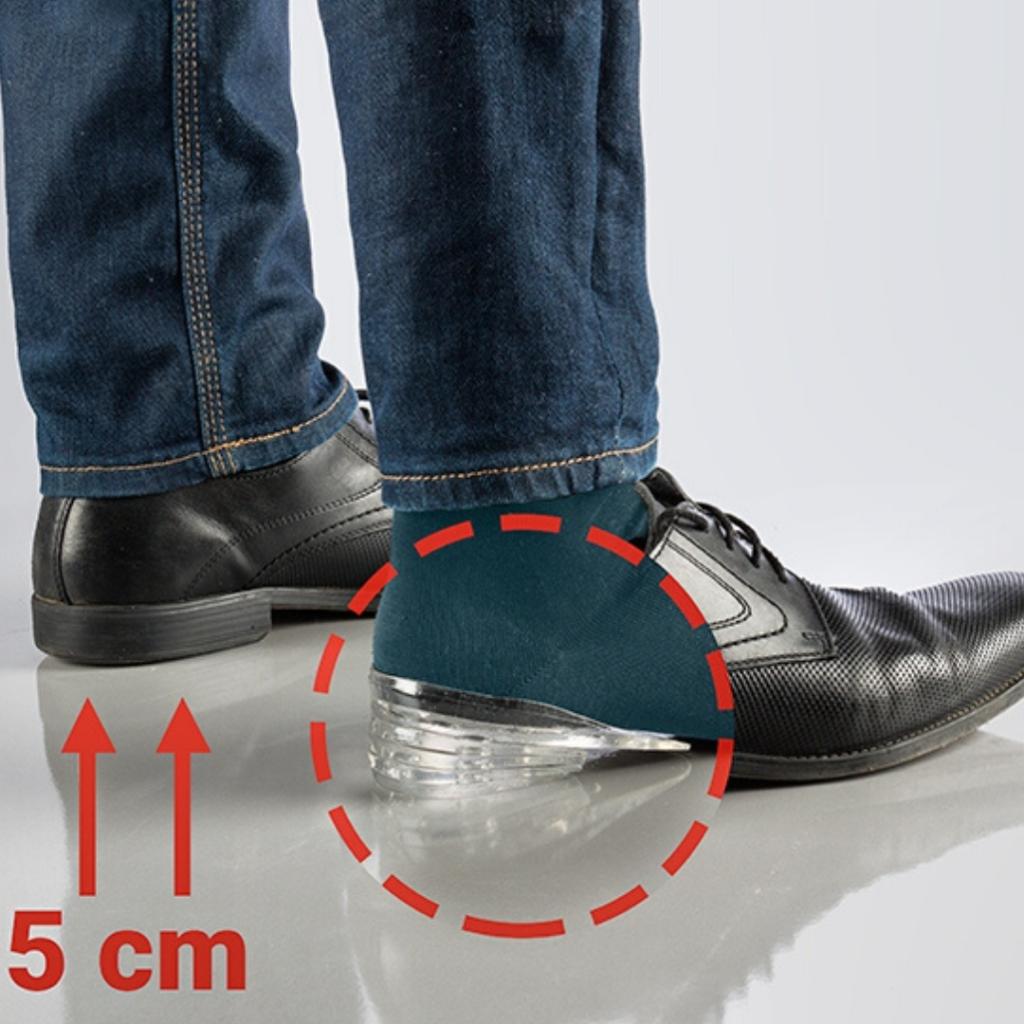 Neviditeľné zvyšujúce vložky do topánok
