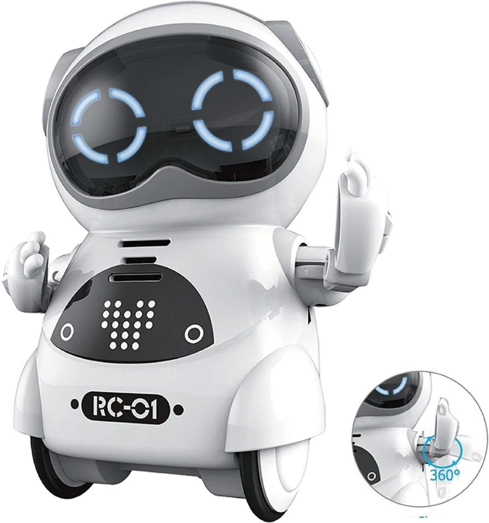 Vzdelávací vreckový mini robot