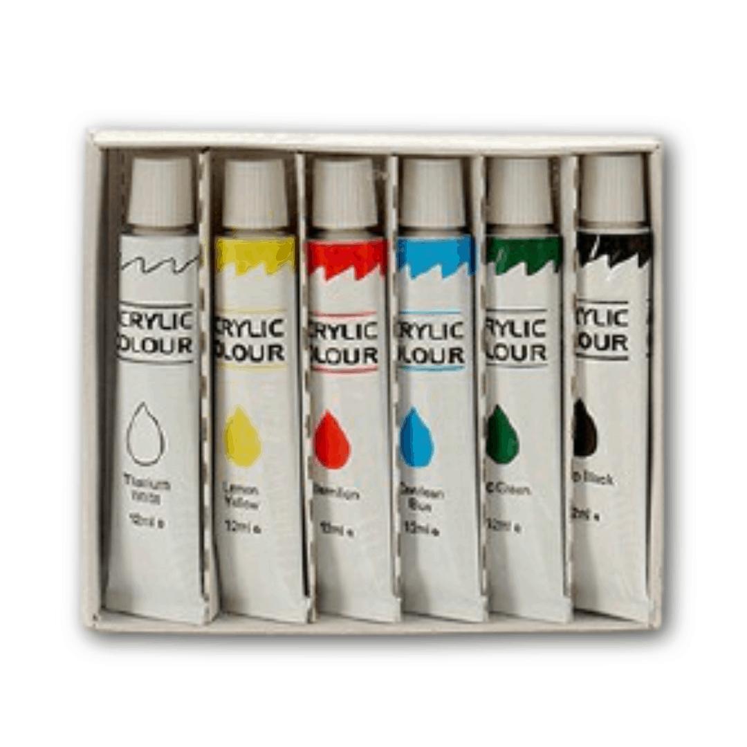 Akrylové farby (6 kusov)